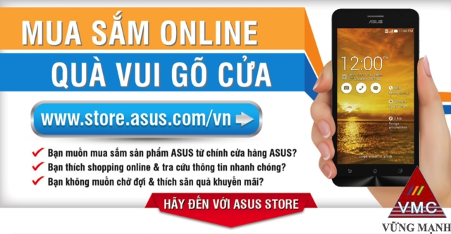 Asus khai trương cửa hàng trực truyến chính hãng tại Việt Nam